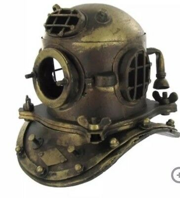 NAUTICAL DECOR Scuba Diving Divers Decor Helmet US Navy Brass Solid Steel NEW!!