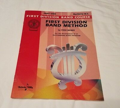 Baritone B. C. Bass clef First Division Band Method  Book Part One Music