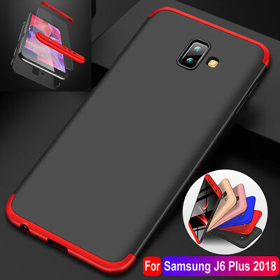 For Samsung Galaxy J4/J6 Plus A7 360° Full Protective Case Cover+ Tempered Glass