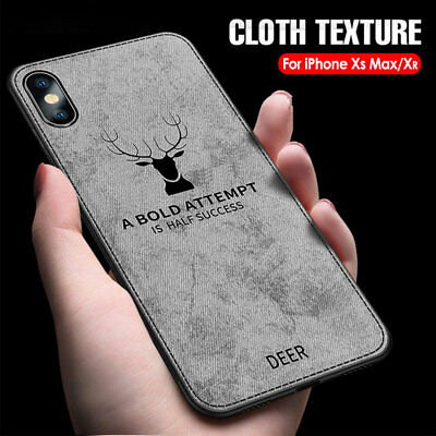 For iPhone Xs Max Xr 8 7 6 Luxury Slim Fabric Texture Soft Shockproof Case Cover