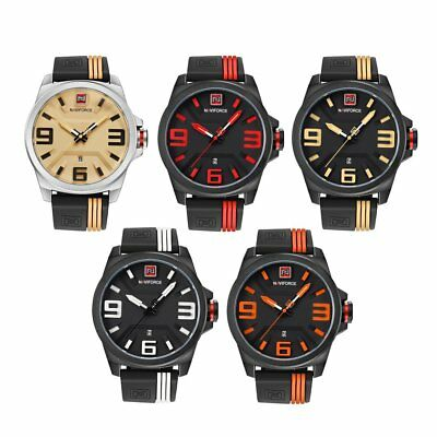 NAVIFORCE 9098 Men 3ATM Waterproof Wrist Watch Rubber Wristband Sports Watch B4U