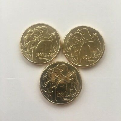 2019 RAM $1 dollar Coin With 35 Mintmark A/U/S set of 3 Coins UNC