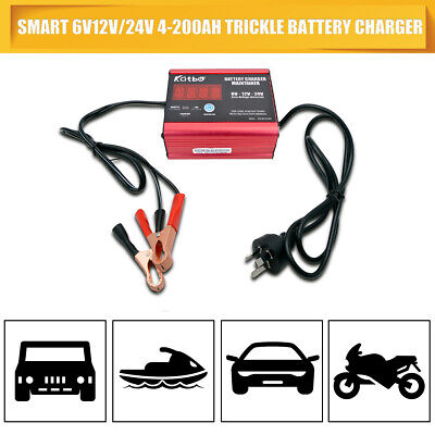 Electric 200AH 12/24V Car Dry Wet Battery Charger Smart Intelligent Pulse Repair