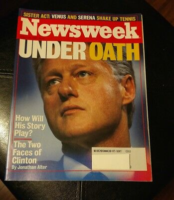 Newsweek Magazine Vintage Back Issue 1998 Aug 24 The Two Faces President Clinton