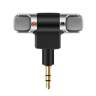 1x Mini Portable Digital Stereo Microphone Mic For Recorder Smart Cell Phone