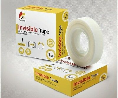 "6 Rolls Invisible Office Tape 3/4"" x 1000"""