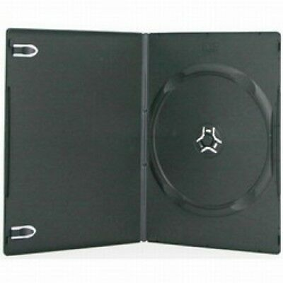 100 SLIM Black Single DVD Cases 7MM