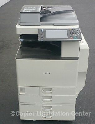 Ricoh MPC3002 MP C3002 color tabloid copier finisher d print speed 30 ppm .ae