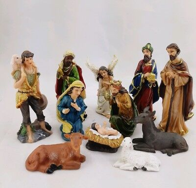 "New Religious 5"" Christmas Nativity Set 11 Pieces (12.7cm)"