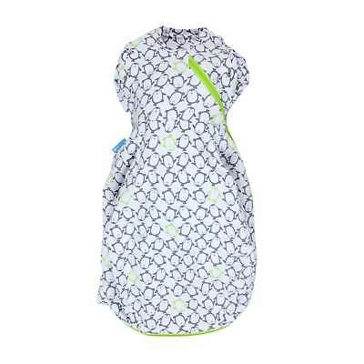 New The Gro Company Penguin Pop Charcoal Swaddle Grobag