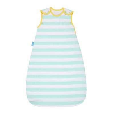 The Gro Company Insect Shield Mint Stripe Baby Sleeping Grobag, 6 - 18m, 0.5 Tog