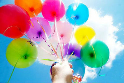 12 inch 100x Assorted Color Pearl Latex Thick Party Balloons 3.2g Helium Float