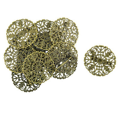 10pcs Blank Brooch Base Round Pins Back Brooches Settings Cabochons Findings New