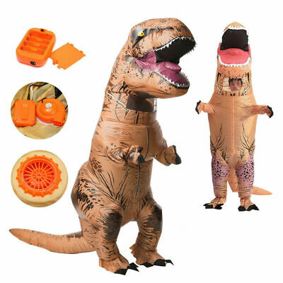 Kids Inflatable T-Rex Trex Dinosaur Costume Suit Jurassic Park Cosplay 1.3m-1.6m