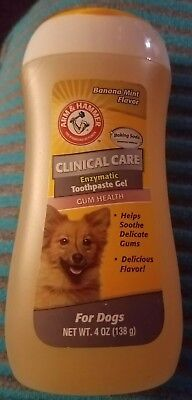 New Arm & Hammer Clinical Care Dental Enzymatic Toothpaste Gel For Dogs Health
