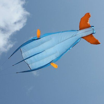 3D Dolphin Kite with Handle Line Stunt Parachute Soft Parafoil Surfing Kite FH