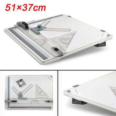 High/Pro Quality Offices A3 Drawing Board Table Set With Magnetic Clamping Bars