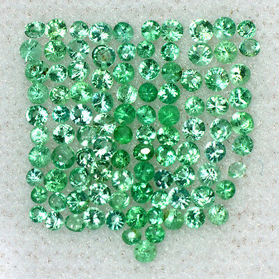 0.98 Cts Natural Emerald Loose Gemstone Round Diamond Cut 1 upto1.5mm Lot Zambia