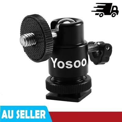 360° Swivel Mini Ball Head 1/4'' Screw Mount for Camera Tripod Monopod Ballhead