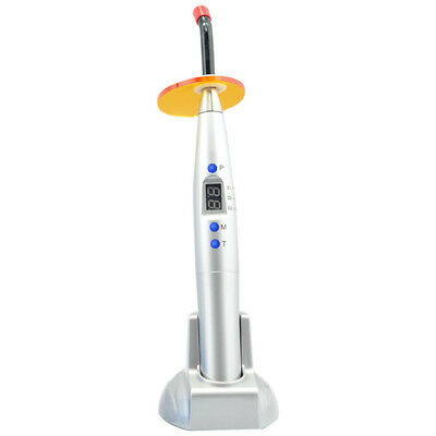 10W Dental Cordless LED Curing Light Lamp 2000mw with Whiten Tip Silver UK Stock