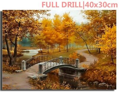 UK Full Drill Autumn City Park 5D Diamond Painting Embroidery Cross Stitch Kit