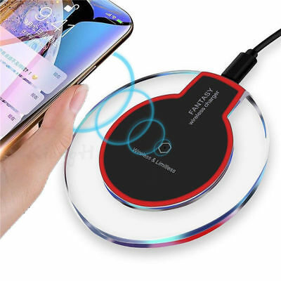 QI Wireless Charger WiFi Charging Pad Mat Dock For iPhone 8 X Samsung S6 7 8