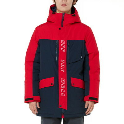 VANS Mens OFF THE WALL DUCK DOWN PARKA JACKET VN0A3DHSRS9 RED / NAVY S-XL TAKSE
