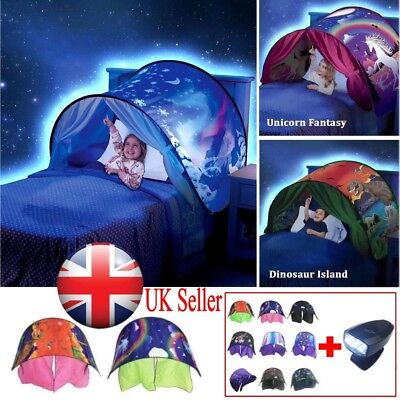 Dream Tent With Light Set House Space Adventure Foldable Tents Pop Up Bed Gift