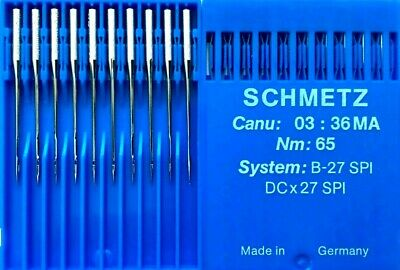 Schmetz Dcx27 Spi B-27 Spi Nm:65 Industrial Overlocker Sewing Machine Needle