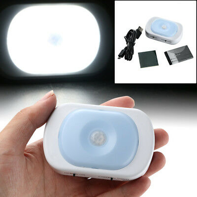 Rechargeable PIR 12LED Auto Motion Sensor Night Light for Drawer Wardrobe New