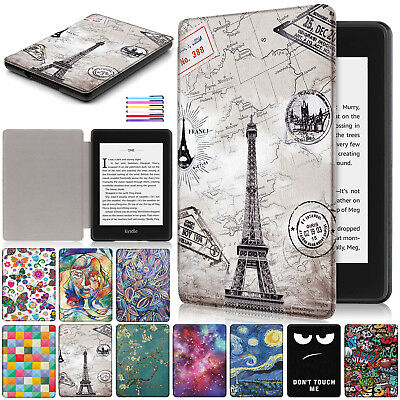For Amazon Kindle Paperwhite 2018 Smart Painted Magnet Leather Full Cover Case