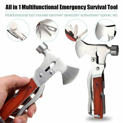 Outdoor Camping Multi-function Emergency Survival Tools Hatchet Axe Hammer OT
