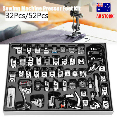 32/52PCS Domestic Sewing Machine Foot Presser Feet Kit For Brother Singer Janome