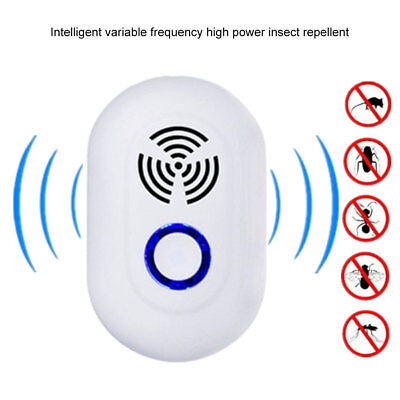 HK- Ultrasonic Electronic Plug In Pest Control Repeller Cockroach Mice Insect Co