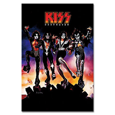 G609 KISS DESTROYER ROCK BAND SIMMONS MUSIC New Art Poster Silk Cloth