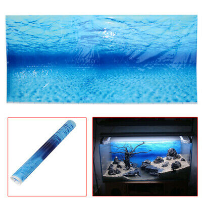 Fish Tank Aquarium Background Plastic Poster Picture Decoration Accessories