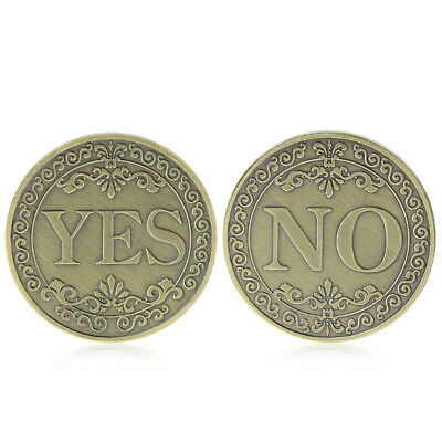 HK- Commemorative Coin Floral YES NO Letter Ornament Collection Gifts Souvenir A
