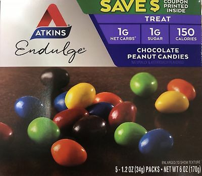 Atkins Endulge Chocolate Peanut Candies Net Wt 6 oz (170g) - PACK OF 5