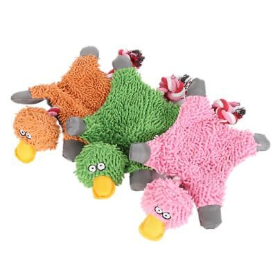 Uk Pet Dog Toys Soft Plush Duck Puppy Cat Chewing Toy Squeaker Squeaky With Rope