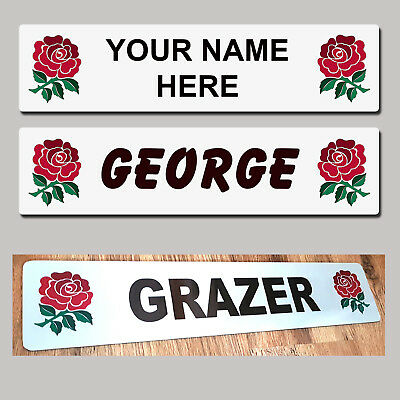 England Rugby Rose Truck Trucker Windscreen SHOW PLATES Name Sign  MTP