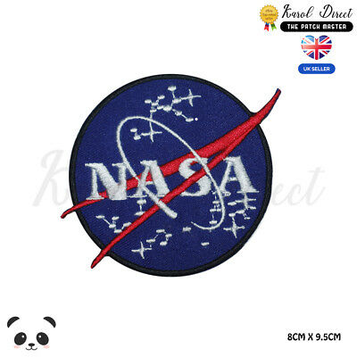NASA USA  Embroidered Iron On Sew On PatchBadge For Clothes Bags etc