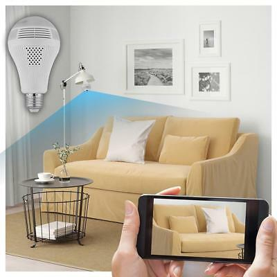 360 Degree 1080P Panoramic Hidden WiFi IP Camera Light Bulb Home Security Camera