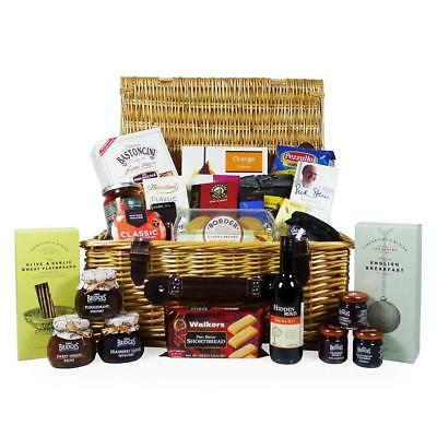 Gourmet Treats' Food Hamper in Traditional Style Wicker Basket (includes 25...