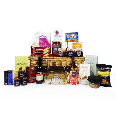 'Best Wishes' Gourmet Food Gift Hamper in a Traditional Style Wicker Basket...