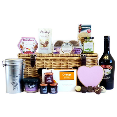 70cl Baileys and Fine Gourmet Food Hamper Presented in a Wicker Gift Basket...