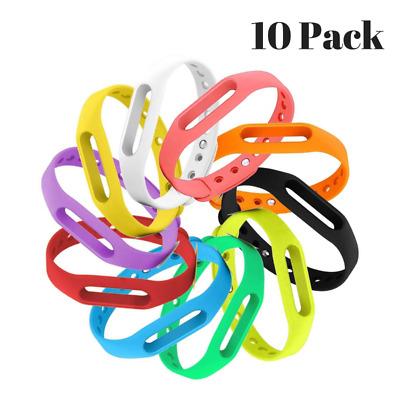 Go-Tcha Replacement Accessory Rubber Band Wristband Medium Set 10 Pack Multicolo