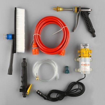 12V 60W 0.6Mpa High Pressure Car Washer Cleaner Water Wash Pump Sprayer Kit DC