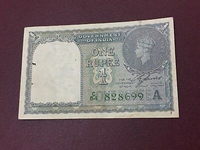 India 1 Rupee King George Vintage Banknote In Great Condition