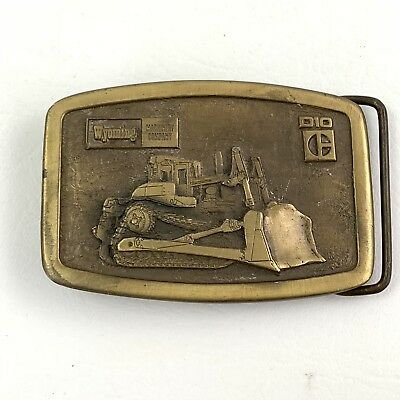 Caterpillar Tractor Vintage Cat D10 Tractor Belt Buckle Wyoming Machinery Rare