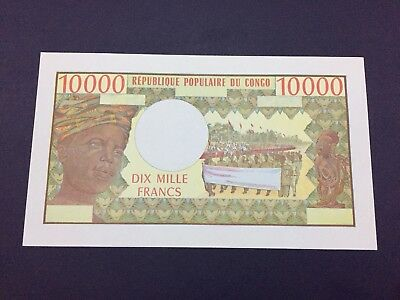 CONGO REPUBLIC ND (1974-81) Uniface PROOF 10,000 FRANCS PICK-5P UNC Rare Proof